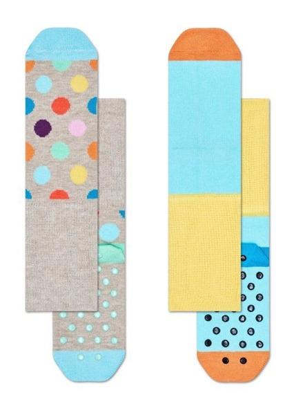 Skarpetki dziecięce antypoślizgowe (2-pak) Happy Socks KBDO19-1000