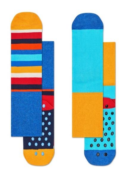 Skarpetki dziecięce antypoślizgowe (2-pak) Happy Socks  KSTR19-6000